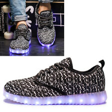 Unisex Luminous Dance Shoes Glowing Lace USB Rechargeable LED Light Up Sneakers