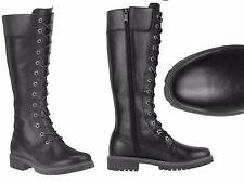 """TIMBERLAND WOMENS 14"""" INCH PREMIUM BLACK SIDE ZIP WATERPROOF LEATHER BOOTS 8632A"""