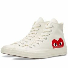 Comme des Garcons Play x Converse Chuck Taylor White High Trainers Shoes