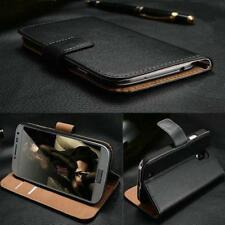 Genuine Real Leather Wallet stand case cover for Various Mobile Phones