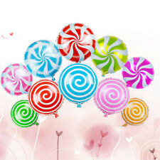 10Pcs Foil Round Candy Lollipop Balloons - Birthday Party Decoration 18 inch