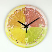 Moderno Limón Decoración De Pared Reloj de pared con Impermeable cara de reloj