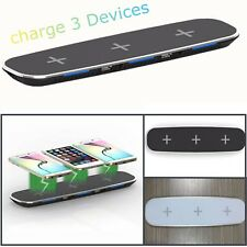 Qi Wireless Fast Charger Charging Stand Dock Pad For iPhone X Samsung S8 Note 8