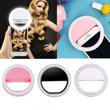 New Selfie 36 LED Light Ring Flash Clip Camera Phone Samsung iPhone USB 3color