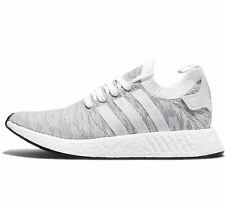 ADIDAS NMD R2 NMD_R2 PRIMEKNIT - WHITE/GREY/BLACK/ORANGE - BY9410 - UK 7, 10, 11