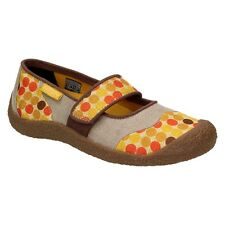 Keen récolte MJ CHAUSSURES FEMMES Mary Janes BALLERINES CHAUSSONS JAUNE TOILE
