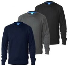 DUKE D555 homme grande taille col rond uni PULL TRICOT PULL