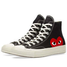 Comme des Garcons Play x Converse Chuck Taylor Black High Trainers Shoes