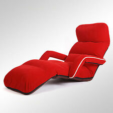 Floor Folding Adjsutable Chaise Lounge Armchair Recliner Daybed Sofa Lounger