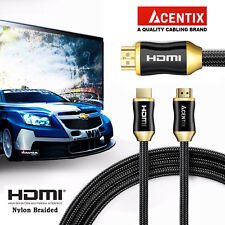 PREMIUM NEW 4K ULTRA HIGH SPEED NYLON BRAIDED HDMI V2.0 CABLE FOR XBOX SKY Q PS4