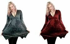 Innocent Lifestyle Smock Longsleeve Dress Ladies Wine Red Grey Cute Girls Gothic
