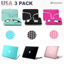 Hard Case Shell Keyboard Cover Carry Bag Set for Macbook Pro/Air/Retina 11/13/15