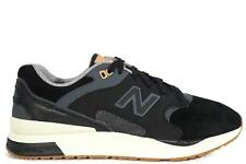 Mens New Balance C-NB 1550 Black Suede Casual Trainers ML1550SB