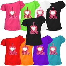 I Love The 80s Ladies T-Shirt Pop Star Retro 1980's Hen Party Costume Top 127318