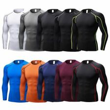 Men Male Compression Base Layer Quick Dry Long Sleeve Shirt Tops Fitness T-shirt
