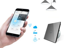 SMARTHOME Conector Luz Pared cristal touch enchufes Gris luxus-time