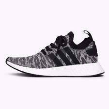 ADIDAS NMD R2 NMD_R2 PRIMEKNIT - BLACK/WHITE/ORANGE - BY9409 - UK 8, 9, 10
