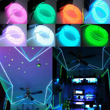 1-5M Flash Flexible Neon LED  Glow EL Strip Tube Wire Rope Car Party Light SW