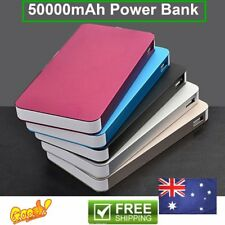 50000mAh External Power Bank Dual USB Portable Battery Charger For Phone lot AW