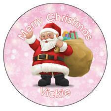 Personalised Father Christmas Xmas Santa Stickers Present Gift Seal Label - 937