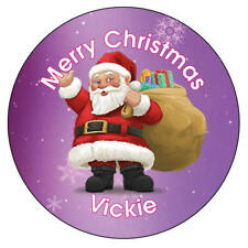 Personalised Father Christmas Xmas Santa Stickers Present Gift Seal Label - 938