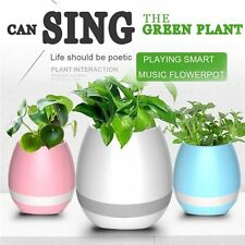 Wireless Bluetooth Speaker Smart Music Flower Plant Pot LED Touching Piano Gift