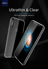 Rock Transparent Slim Jacket Series TPU Back Cover Case for Apple iPhone X / 10