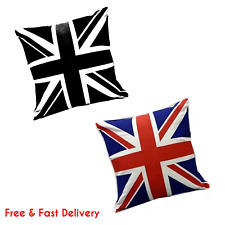 "Fabulous 100% Cotton Printed Union Jack Cushions, 18"" x 18""  Buy Single OR Sets"