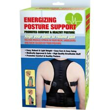 ENERGIZING POSTURE SUPPORT Back Corrector Shoulder Lumbar Belt Brace Magnetic
