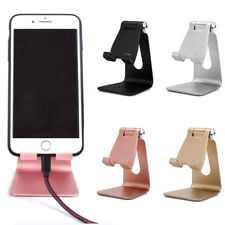 Portable Adjustable Angle Aluminum Desktop Stand Holder For Cell Phone Tablet PC