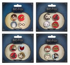New Official Harry Potter Cutie Character Button Badge Set - Assorted Designs