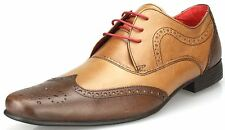 Red Tape ELRICK 2 marrone con lacci brogue bicolore pelle Scarpe da uomo