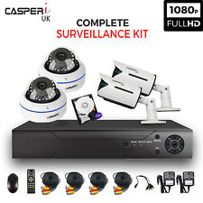 CCTV HD Bullet and Dome IR Cameras 1080p 4CH DVR Camera Security kit In/Outdoor