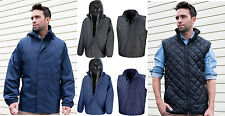 Result 3 in 1 Windproof Waterproof Outer Jacket with Quilted Body warmer Inner