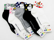 Moomin Valley Anime Character Face Novelty Cartoon Ankle Socks Kawaii Harajuku