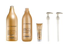 L'Oreal Serie Expert Nutrifier Shampoo 1500ml, Conditioner 750ml and Crème Brush