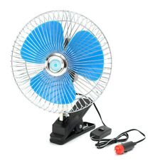 12/24V 8 Inch Mini Oscillating Car Air Cooling Fan Clip On with Cigarette Lighte