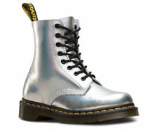Dr Martens Pascal iced metallic silver Airwair DM boot size 3-9UK