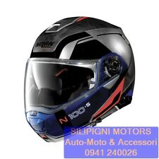NOLAN N100-5 CONSISTENCY N-Com 29 SCRATCHED CHROME CASCO MODULARE TOURING