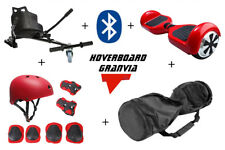 KIT REGALO HOVERBOARD BLUETOOTH PATINETE ELECTRICO 2018 AZUL-ROJO