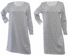 Nightdress Jersey Cotton Long Sleeve Dotty Circle Design Nighty Waites Nightwear