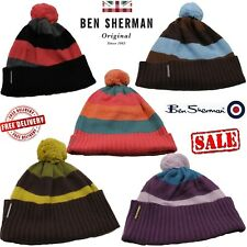 Ben Sherman Angora Mens Womens Casual Winter Warm Bobble Beanie Hats Caps Unisex