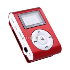 Reproductor Mini MP3 LCD con Enganche Clip, Music Player, Rojo a0433 nt