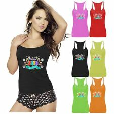 Ladies Womens Happy 2018 New Year 2018 Vest Top RacerBack Gym Sports Lot