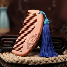 Carved Natural Tooth Wide No-static Combs Sandalwood Hair Wooden Comb Massage