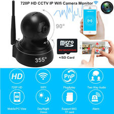 Mini 720*1080P HD Security Wireless WIFI CCTV IP Cameras Antenna Monitors Indoor