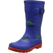 Joules Printed Welly Dino Paddle Bleu Caoutchouc Junior Wellington Bottes
