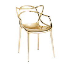 KARTELL set da 2 sedie MASTERS METALLIZZATE PRECIOUS COLLECTION Philippe Starck