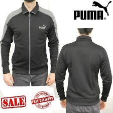 PUMA Mens LS Eagle Point 2 Team Sports Jackets Sweatshirts Jumpers Tops Black