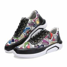 Fashion Mens Boys Sports Shoes Printing Sneakers Athletic Outdoor Running Casual